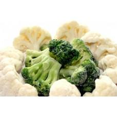 Овощи на пару брокколи/цветная капуста